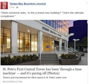 St. Pete's First Central Tower has been 'through a time machine' — and it's paying off